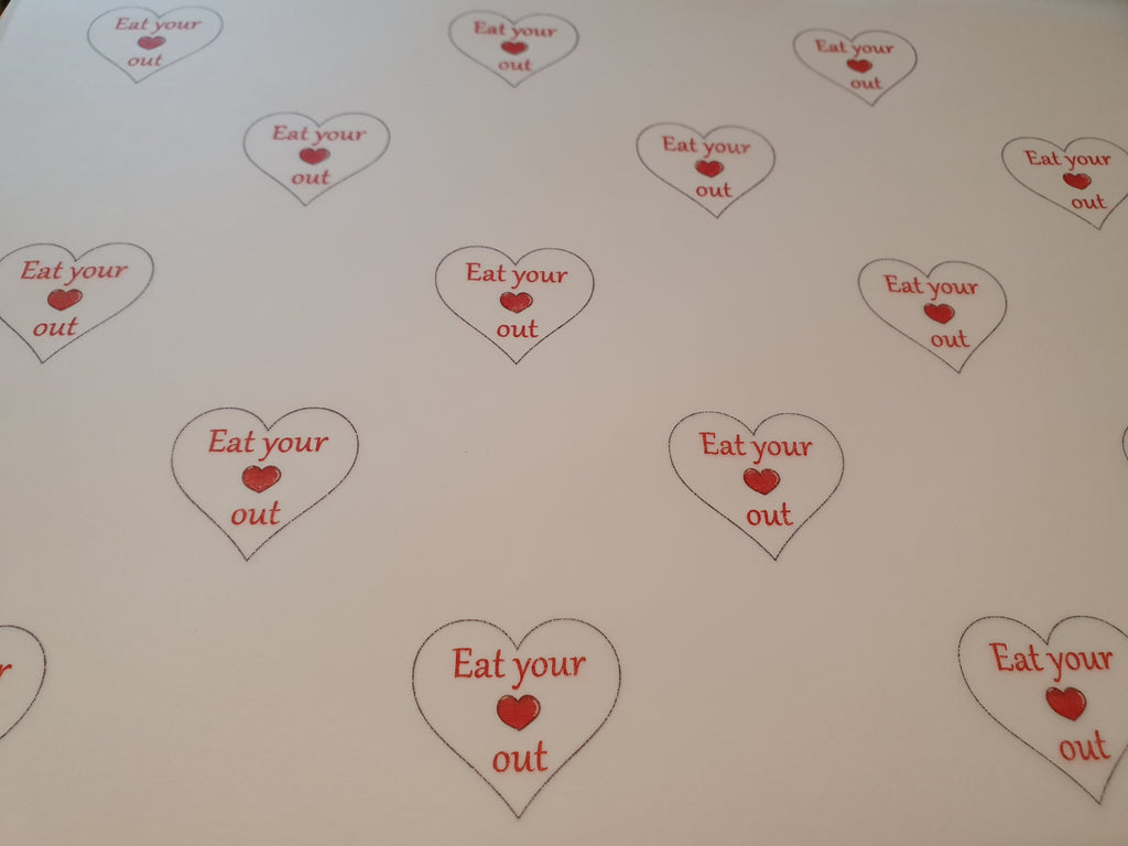 Valentine Heart Packaging Paper (Food Safe) - Eat Your Heart Out