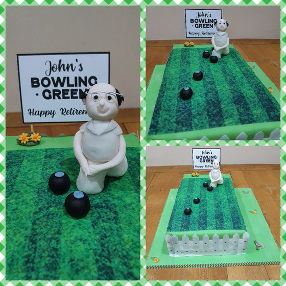 Bowling Green - edible cake topper