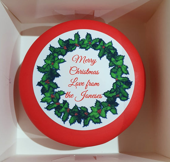 Personalised Christmas Wreath - Add your own message. Click for other sizes