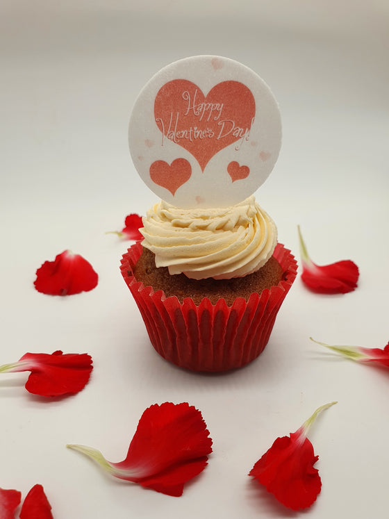 3 Hearts Valentine Cake and Cupcake Toppers