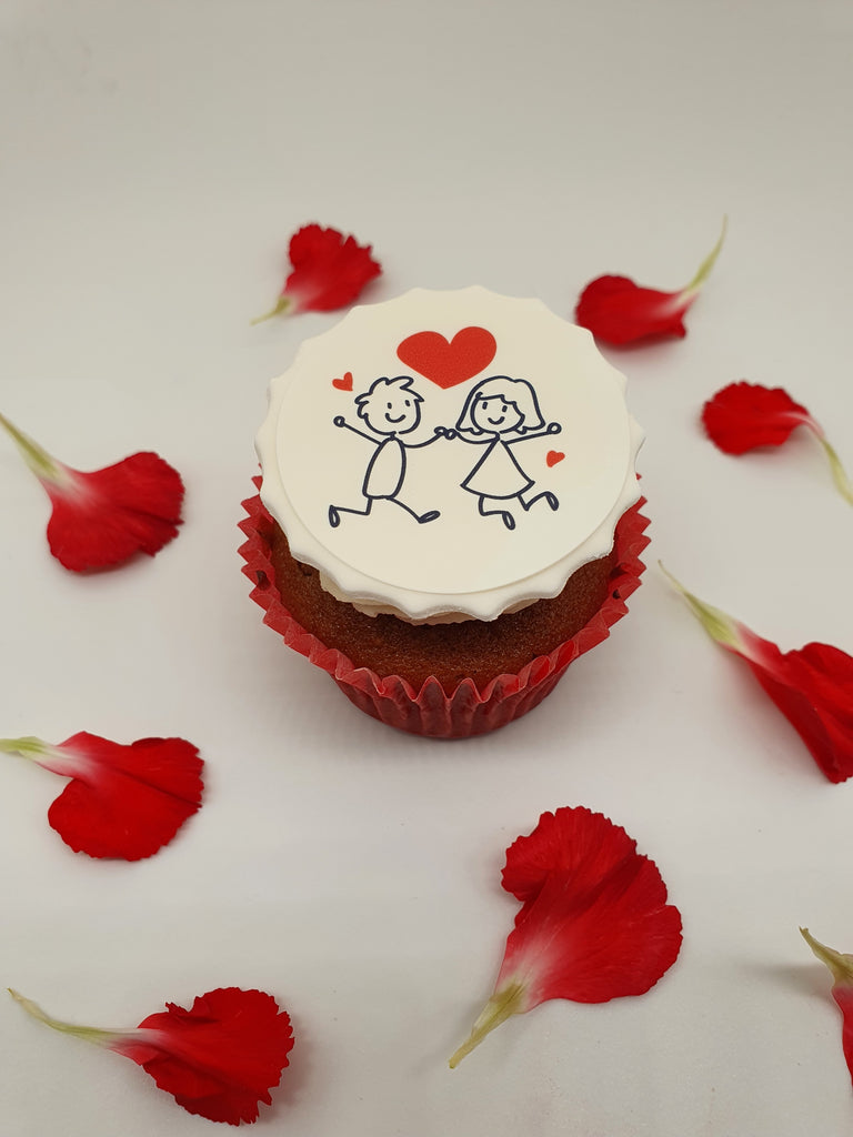 Valentine Stick People - cupcake toppers (3 different images per sheet)