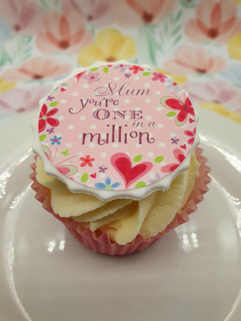 Mother's Day One in a Million Edible Cake & Cupcake Toppers