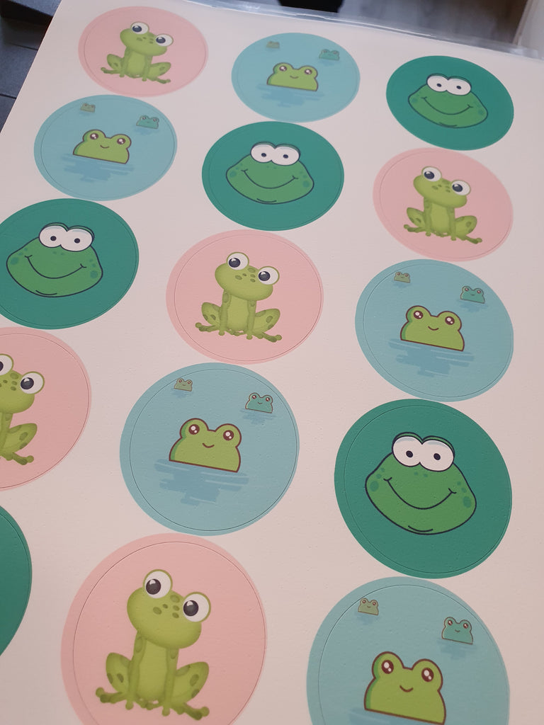 Frog - edible cupcake toppers