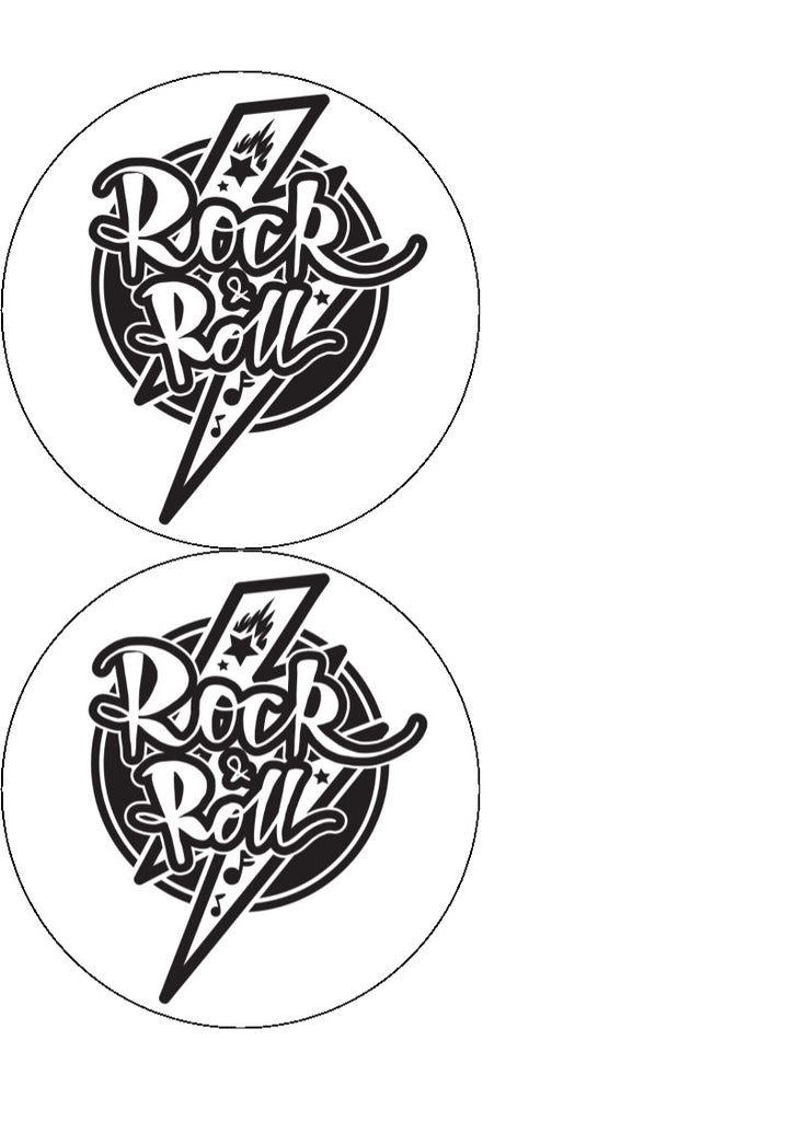 Rock n Roll Edible Cake/Cupcake Toppers