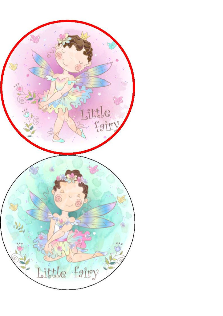 Little Fairy - edible cake/cupcake toppers