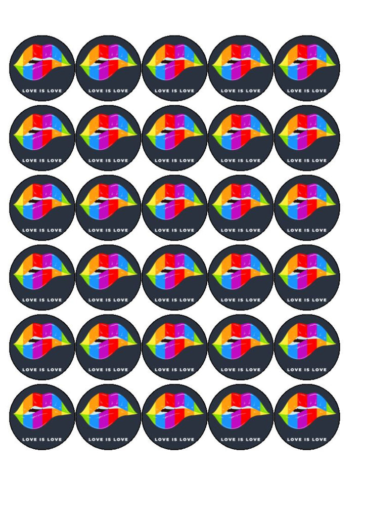 Pride - Design 4 - edible cupcake toppers