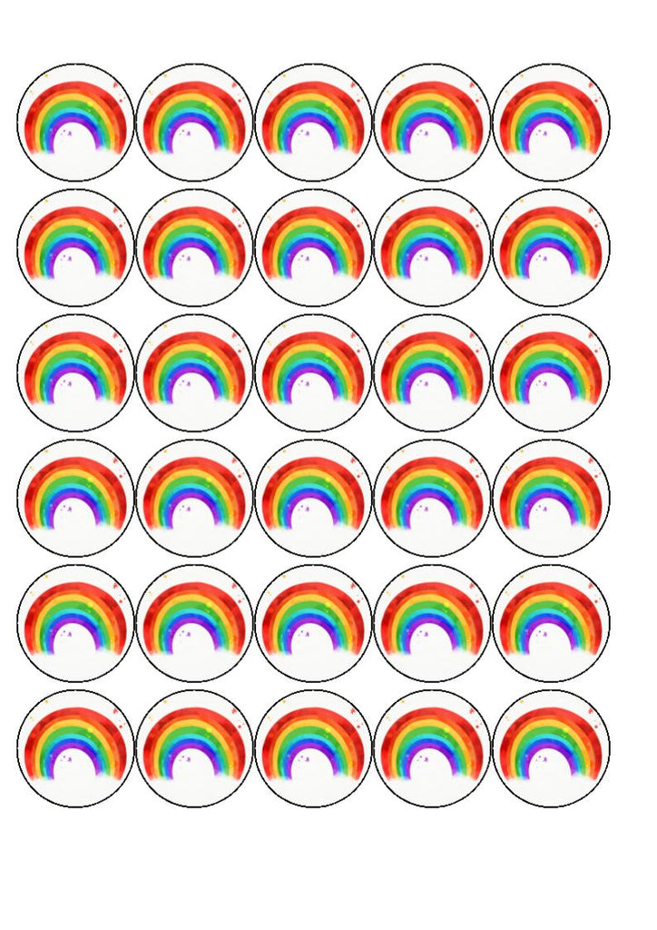 Rainbow - edible cake/cupcake toppers (personalisation can be added)