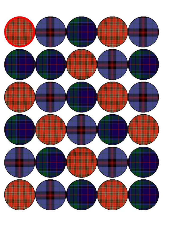 Burns Night Edible Cake & Cupcake Toppers
