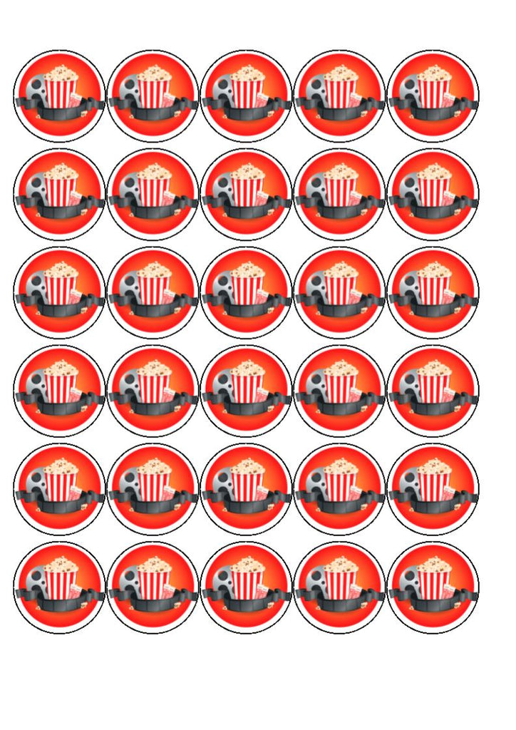 Cinema Cupcake Toppers