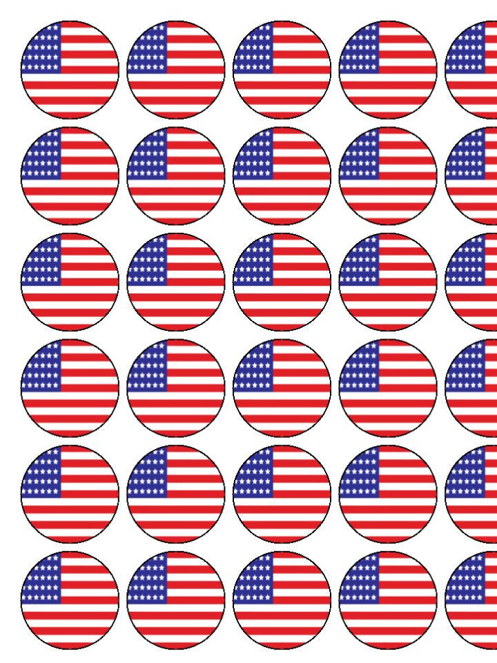 USA Edible Cake & Cupcake Toppers