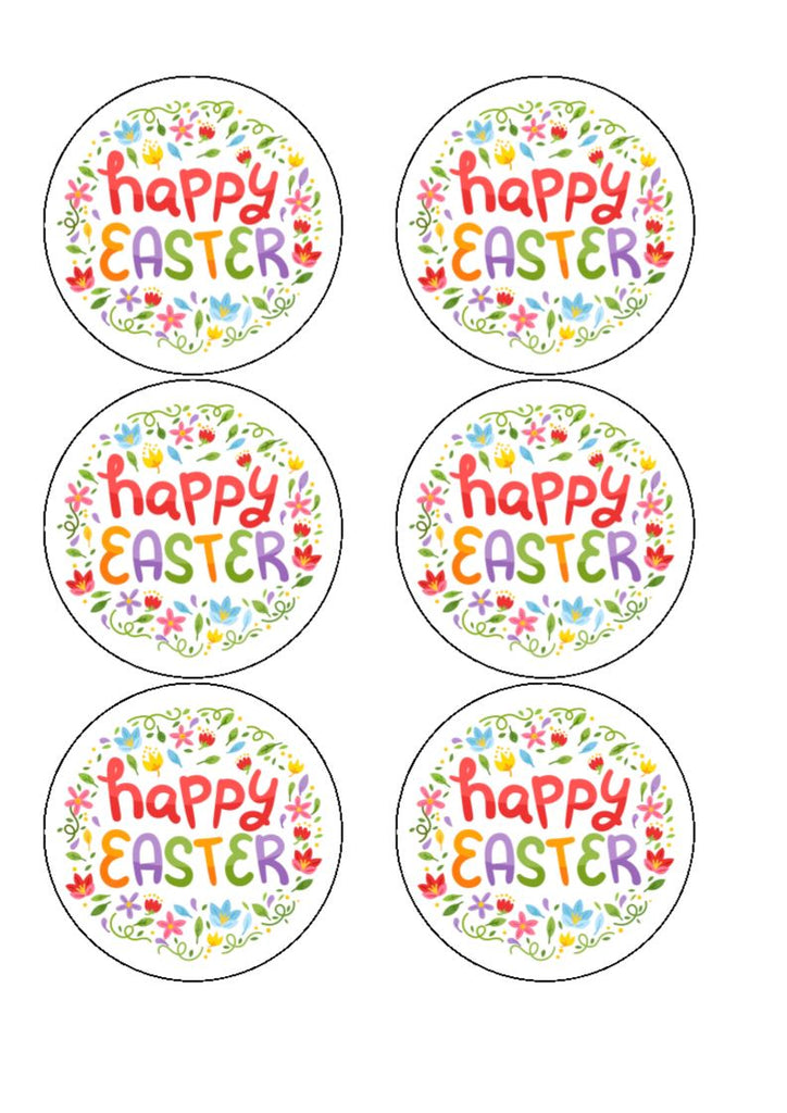 NEW!! Happy Easter Edible Cupcake and Cake Toppers