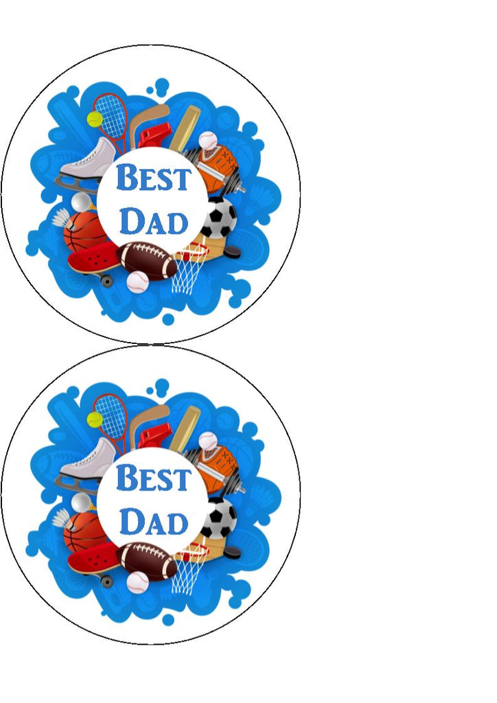 Father's Day - Design 16 - edible cake/cupcake toppers