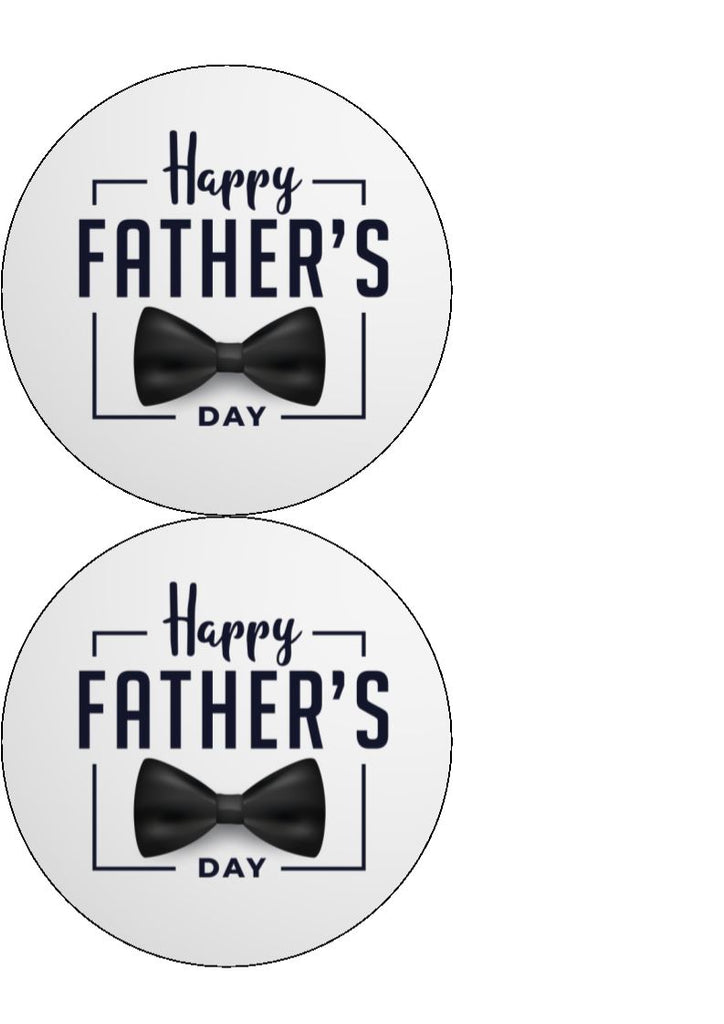 Father's Day - Design 1 - edible cake/cupcake toppers