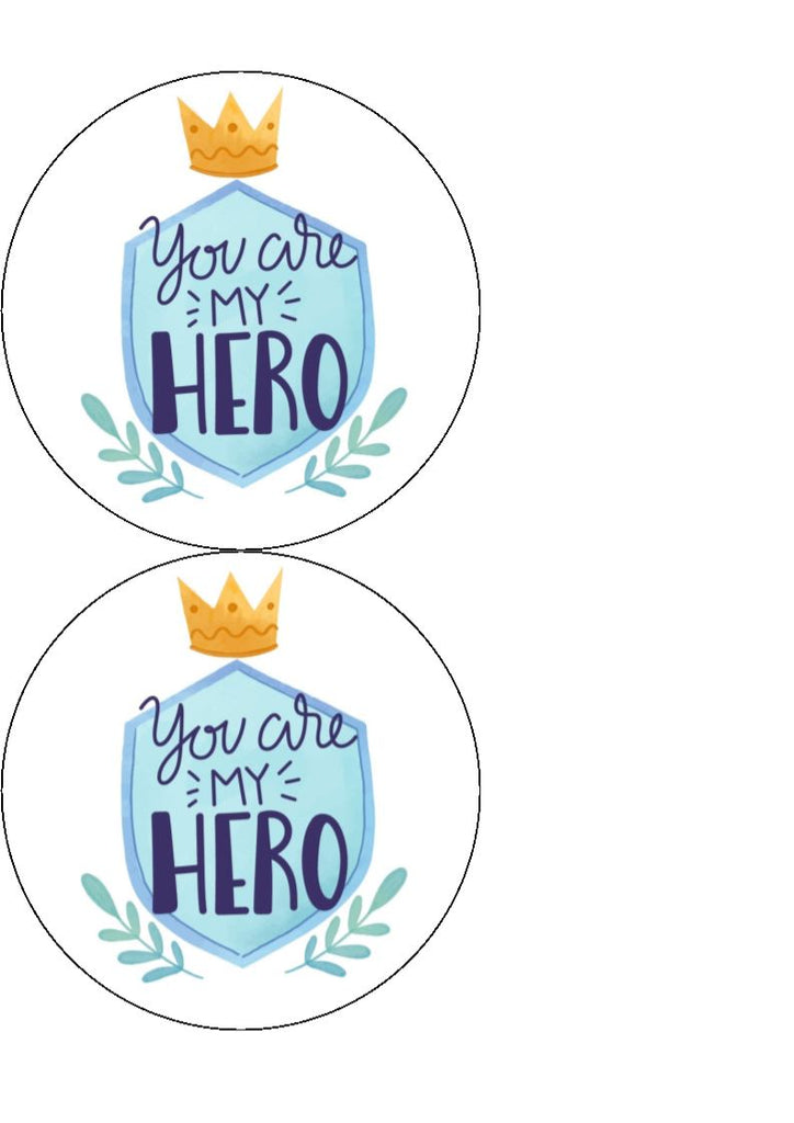 Father's Day - Design 8 - edible cake/cupcake toppers