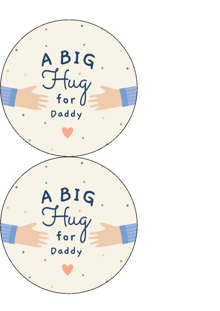 Father's Day - Design 17 - edible cake/cupcake toppers