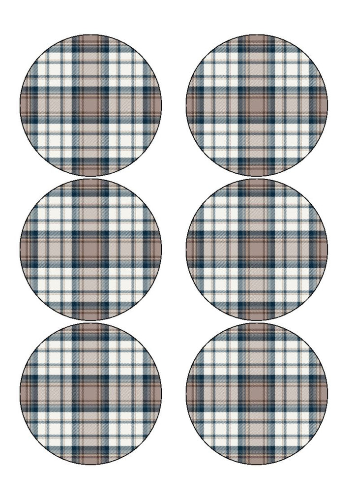 Tartan - Pride of Scotland - edible prints/cake/cupcake toppers