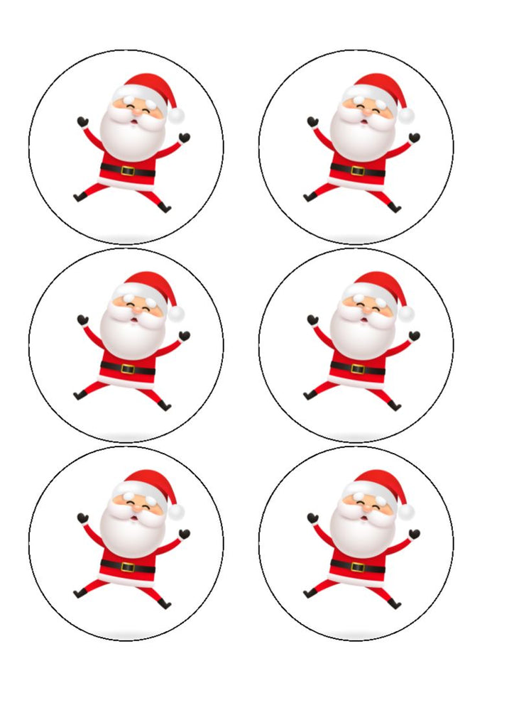 Drink/Cocktail Toppers - Cheerful Santa