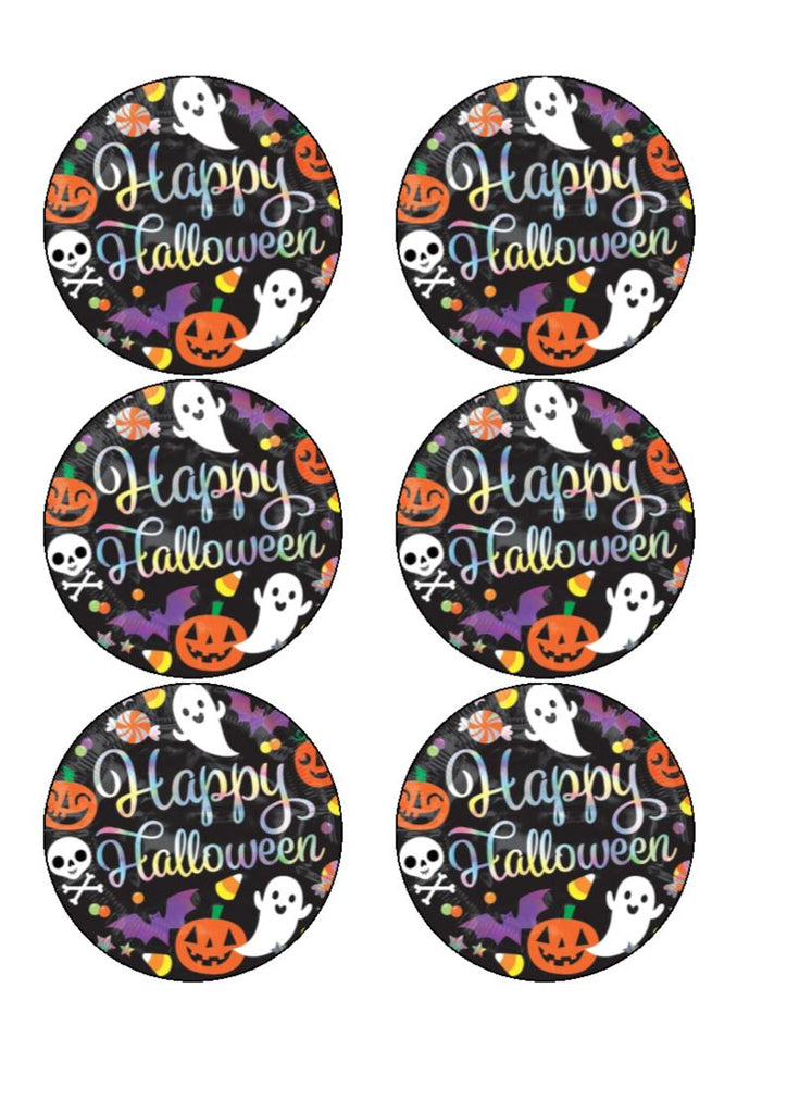 Spooky Black Edible Cupcake Toppers