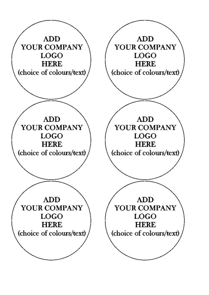 COMPANY LOGO CAKE/CUPCAKE TOPPERS
