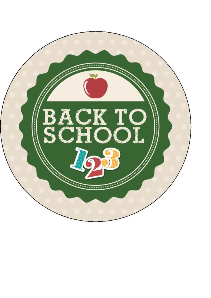 Back to school - design 8 - edible cake/cupcake toppers
