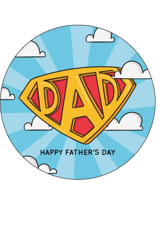Father's Day - Design 19 - edible cake/cupcake toppers
