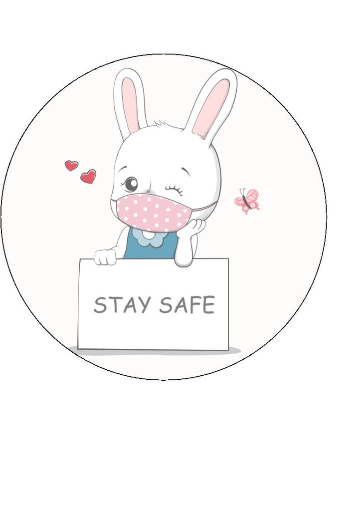 Stay Safe - edible cake/cupcake toppers