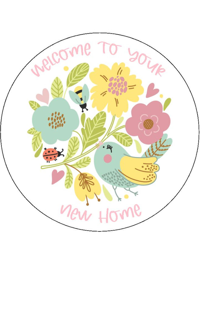 Happy New Home - Design 8 - edible cake/cupcake toppers