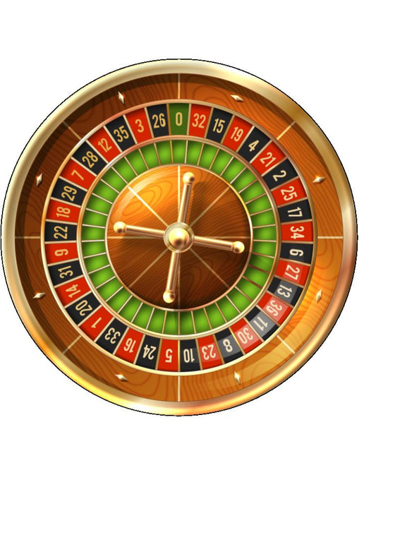 Edible Gold Roulette Wheel Cake Topper
