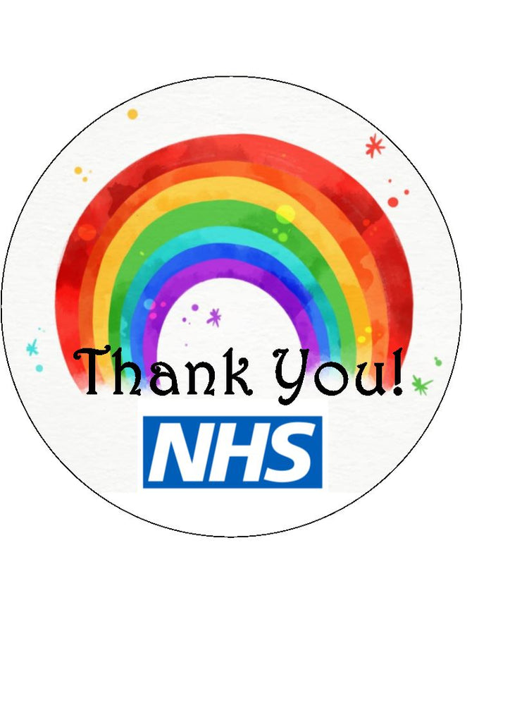 Thank You - NHS - edible cake/cupcake toppers