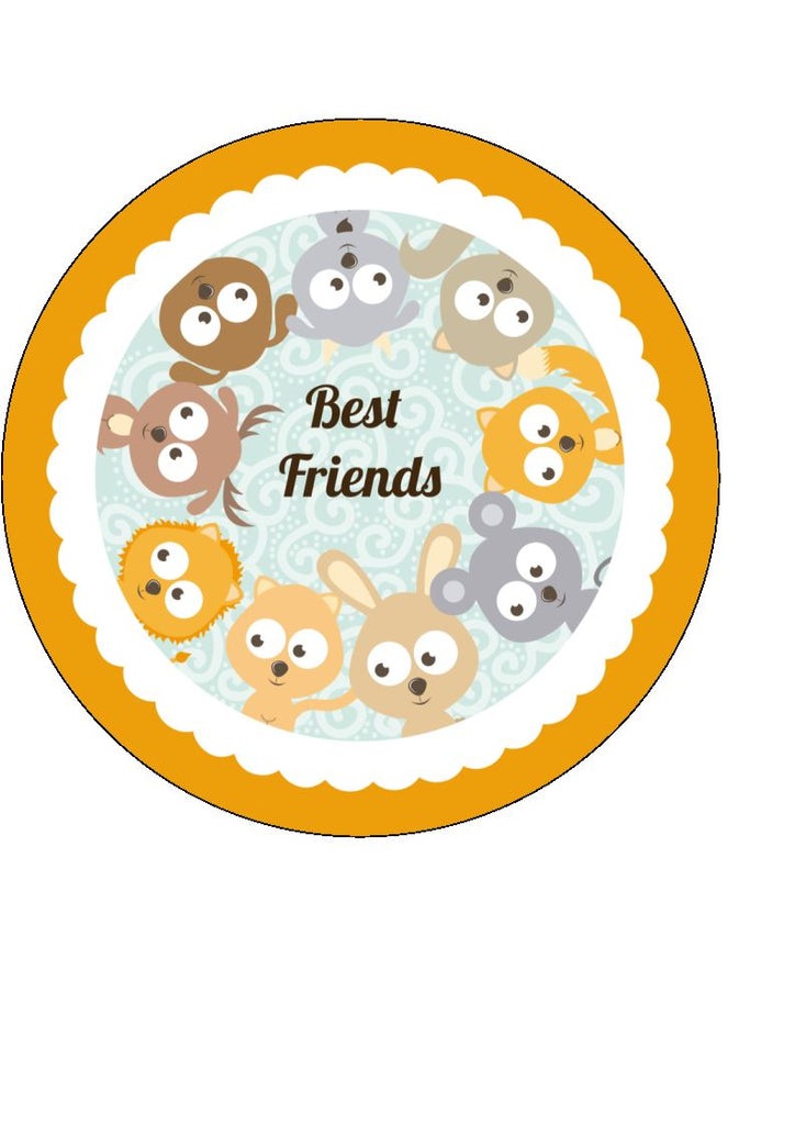 Best Friends - edible cake/cupcake toppers
