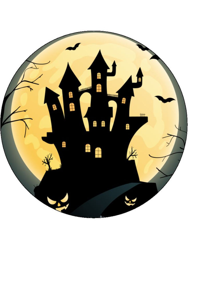 Halloween haunted house edible cake/cupcake toppers