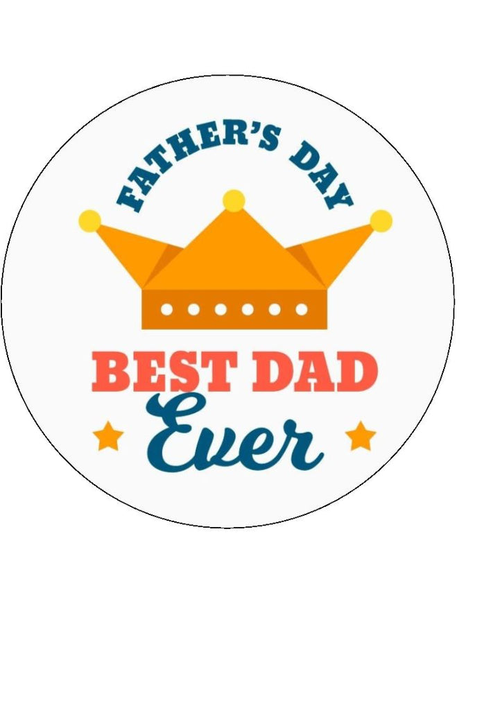 Father's Day - Design 7 - edible cake/cupcake toppers