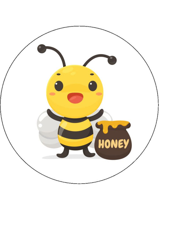 Bee - edible cake/cupcake toppers