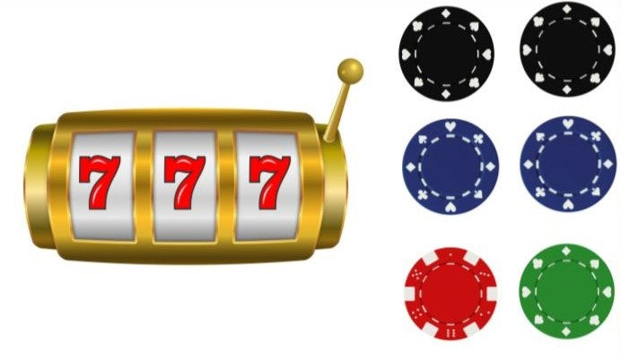 Edible Slot Machine 777 and Casino Chips