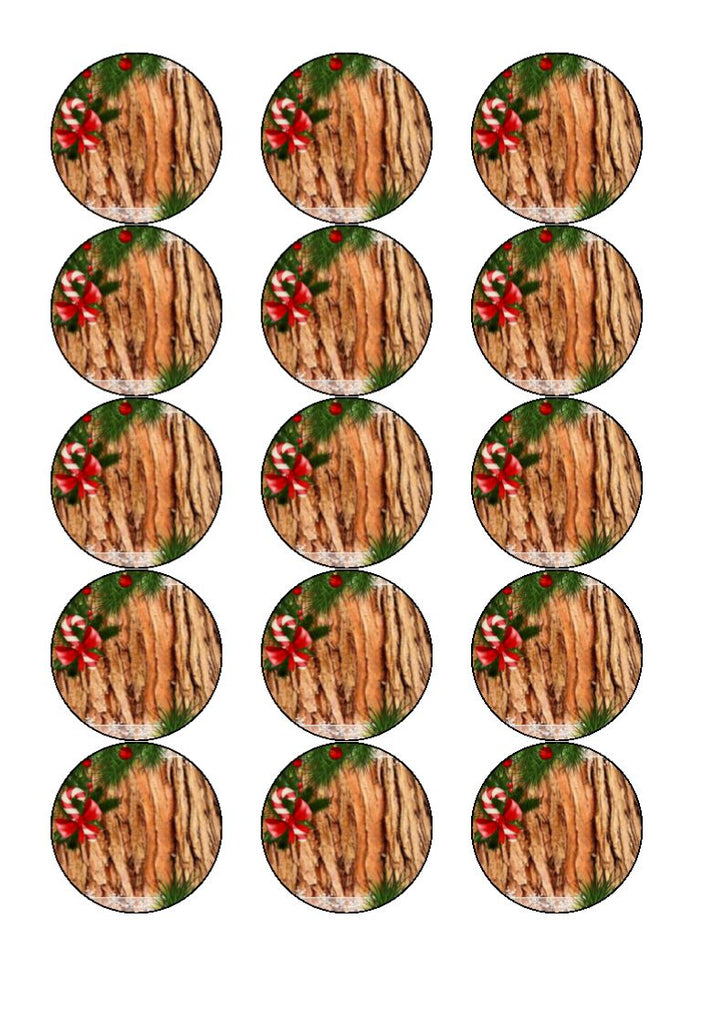 Personalised Bark Christmas Tree Cupcake and Cake Toppers