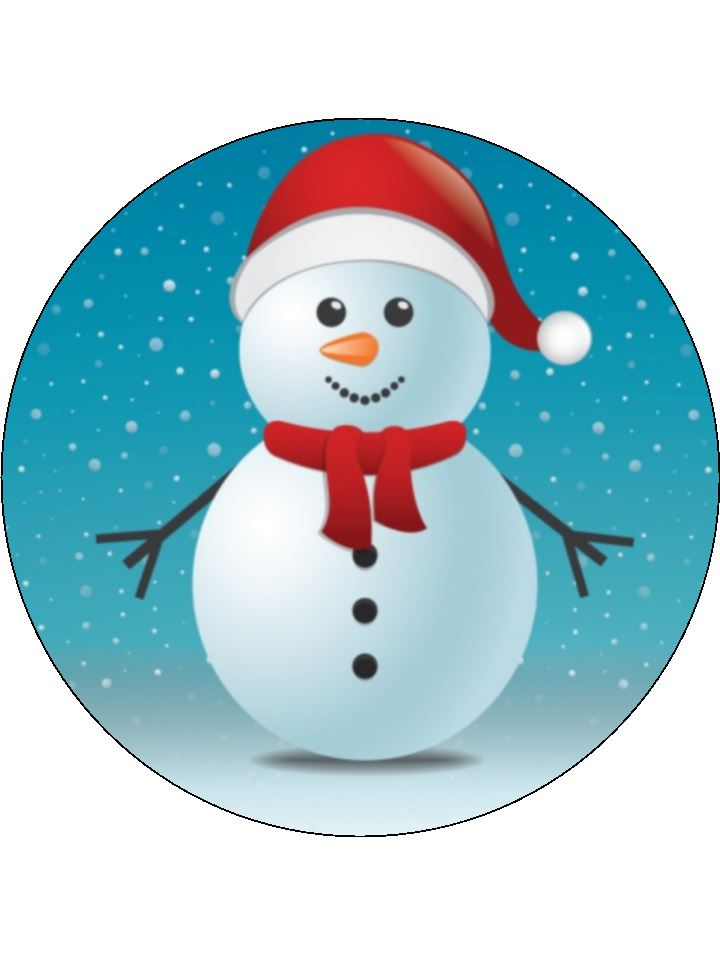 Cute Christmas Snowman - click for other sizes