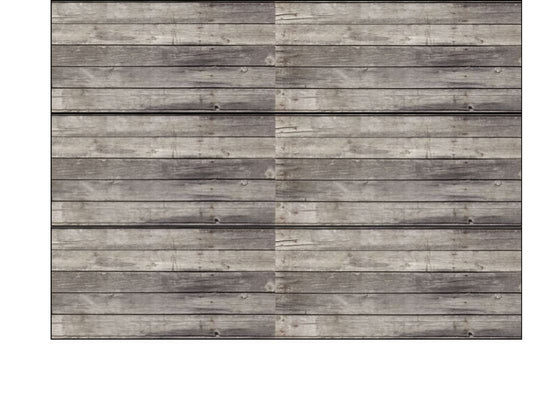 Cake Wrappers/Ribbons - Edible Fondant Strips - Grey Wooden Planks