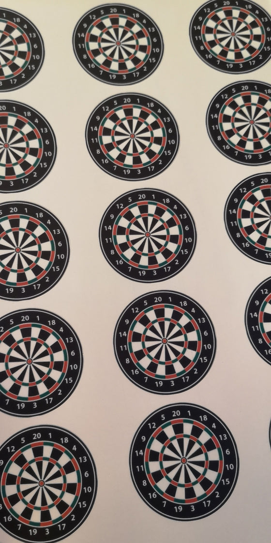 Dartboard Edible Cake & Cupcake Toppers