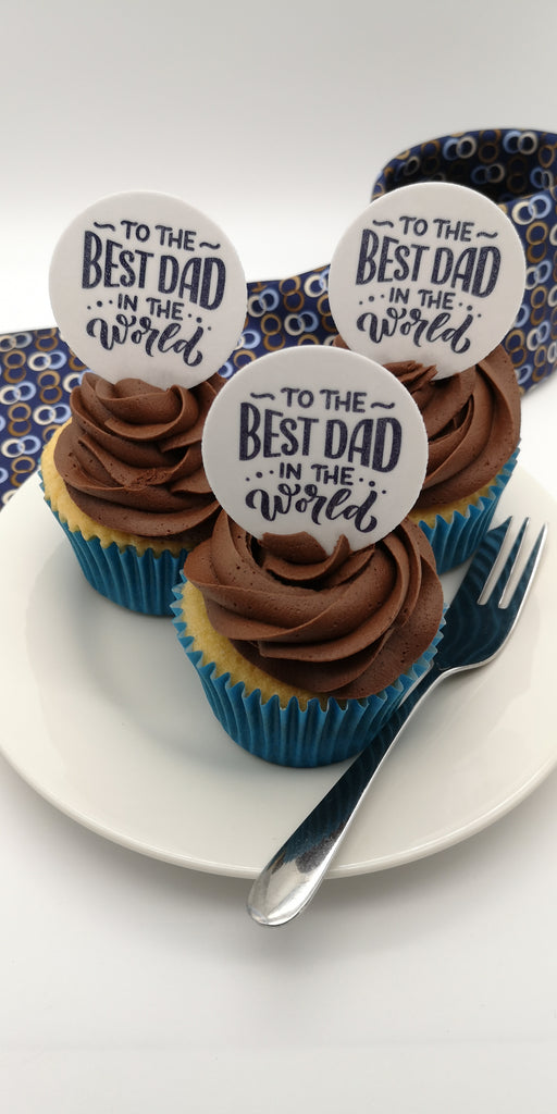 Father's Day - Design 10 - edible cake/cupcake toppers