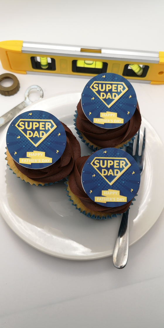 Father's Day - Design 2 - edible cake/cupcake toppers