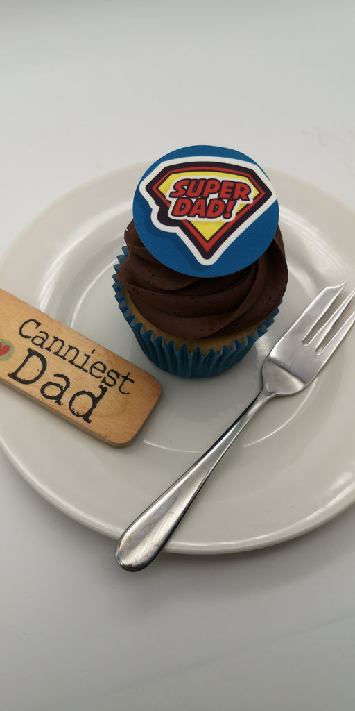 Father's Day - Design 5 - edible cake/cupcake toppers