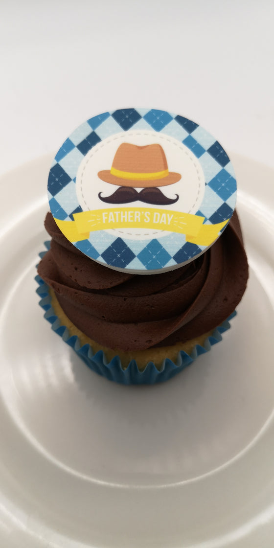 Father's Day - Design 3 - edible cake/cupcake toppers