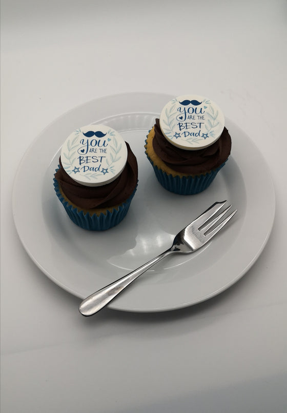 Father's Day - Design 13 - edible cake/cupcake toppers