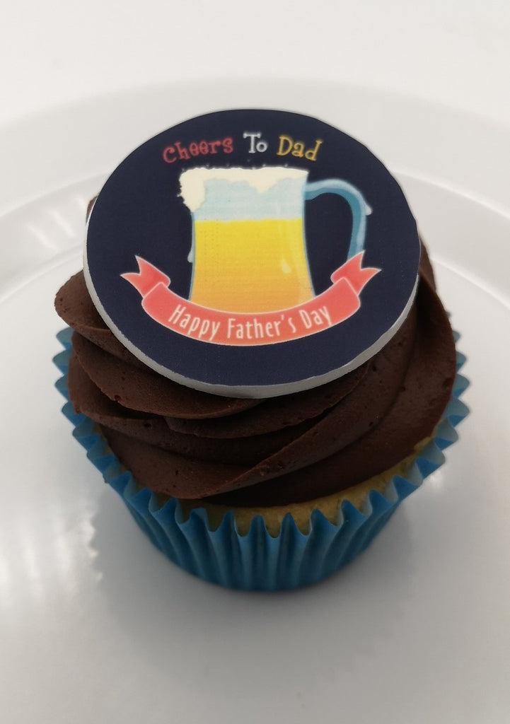 Father's Day - Design 4 - edible cake/cupcake toppers