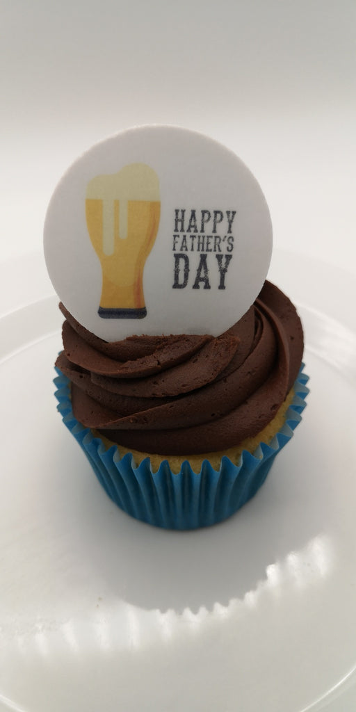 Father's Day - Design 15 - edible cake/cupcake toppers (also available as cocktail/beer toppers)