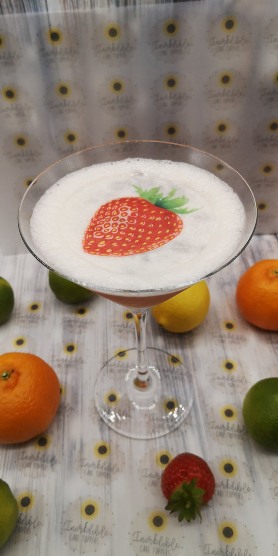 Drink/Cocktail Toppers - Strawberry