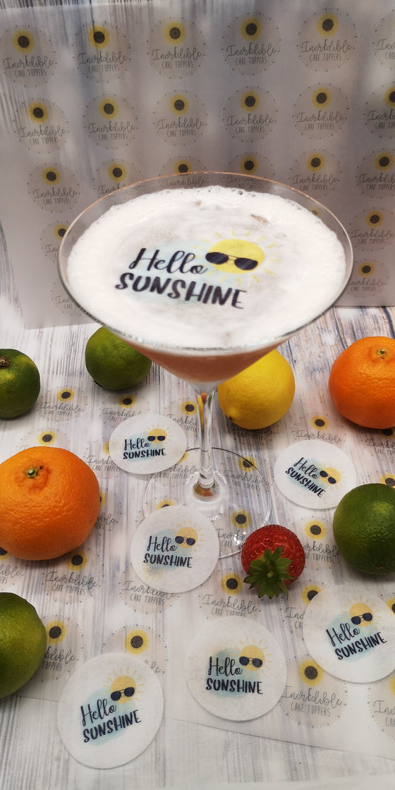 Drink/Cocktail Toppers - Hello Sunshine!