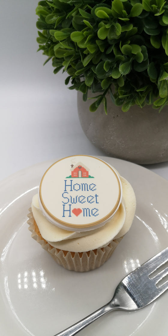 Happy New Home - Design 6 - edible cake/cupcake toppers