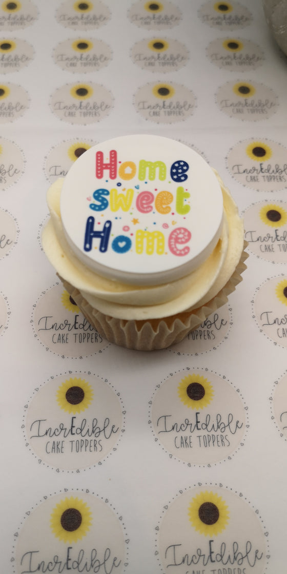 Happy New Home - Design 3 - edible cake/cupcake toppers
