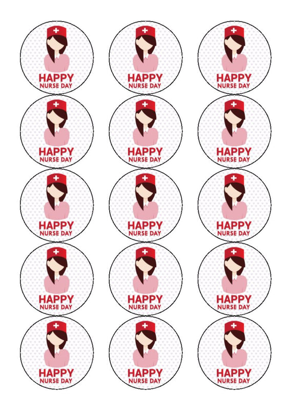 International Nurses Day - Design 3 -  edible cake/cupcake toppers